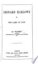 The Game of Life  By  Waters   The preface is signed C  Waters Book