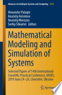 Mathematical Modeling and Simulation of Systems