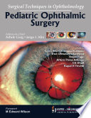 Surgical Techniques in Ophthalmology  Pediatric Ophthalmic Surgery