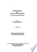 Peer Review of Ancillary Services