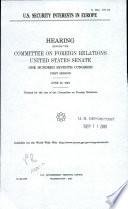 U S  Security Interests in Europe Book PDF