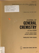 Journal Of General Chemistry Of The U S S R In English Translation Book PDF