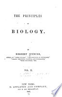 The Principles of biology v 2  1867