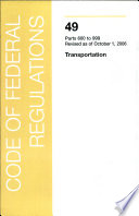 Title 49 - Transportation: Department of Transportation Parts 1000 - 1199