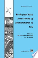 Ecological Risk Assessment of Contaminants in Soil Book