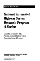 National Automated Highway System Research Program  A Review