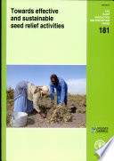 Towards Effective And Sustainable Seed Relief Activities