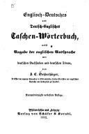 ENGLISCH DEUTSCHES UND DEUTSCH ENGLISCHES TASCHEN WORTERBUCH