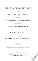 The Telegraph Dictionary, and Seamen's Signal Book