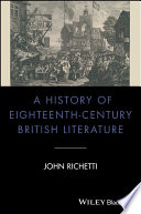 A History of Eighteenth-Century British Literature