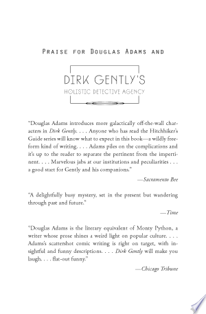 Download Dirk Gently's Holistic Detective Agency online Books - godinez books