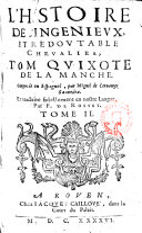 L ́ Histoire de l ́Ingénieux, et Redoutable Chevalier Dom Quixote de la Manche