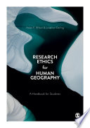 Research Ethics for Human Geography Book