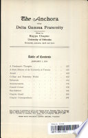 The Anchora Of The Delta Gamma Fraternity