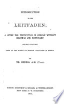Introduction to the Leitfaden ...