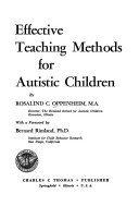 Effective Teaching Methods for Autistic Children