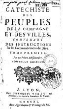 Catéchiste des peuples de la campagne et des villes