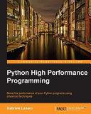 Python High Performance Programming