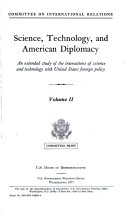Science  Technology  and American Diplomacy Book