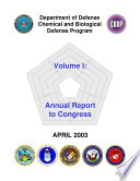 Department Of Defense Chemical Biological Radiological And Nuclear Defense Program Annual Report To Congress 2003