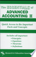 Advanced Accounting II Essentials Book