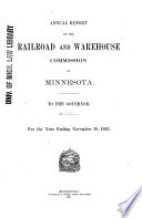 Report of the Railroad and Warehouse Commission of Minnesota
