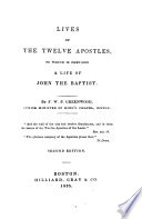 Lives of the Twelve Apostles Book