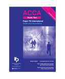 ACCA F8 INT Audit and Assurance (International) Study Text
