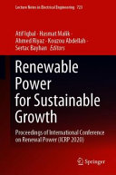 Renewable Power for Sustainable Growth
