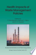 Health Impacts Of Waste Management Policies Book PDF