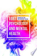 Lgbt Psychology And Mental Health Emerging Research And Advances