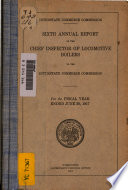 Annual Report of the Director of Locomotive Inspection to the Interstate Commerce Commission Book