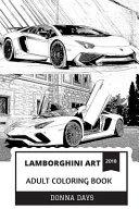 Lamborghini Art Adult Coloring Book