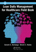 Pdf Lean Daily Management for Healthcare Field Book Telecharger