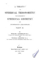 A Treatise On Spherical Trigonometry