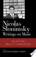 Nicolas Slonimsky: Music of the modern era