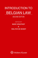 Pdf Introduction to Belgian Law Telecharger