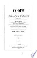 Codes de la législation française