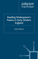 Reading Shakespeare   s Poems in Early Modern England