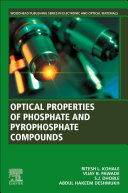 Optical Properties Of Phosphate And Pyrophosphate Compounds Book PDF