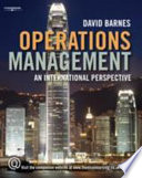 """Operations Management: An International Perspective"" by David Barnes"