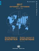 Pdf Monthly Bulletin of Statistics, September 2017 Telecharger