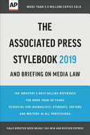 The Associated Press Stylebook 2019