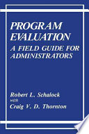 Program Evaluation Book