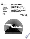 Biodiversity and the Management of the Madrean Archipelago