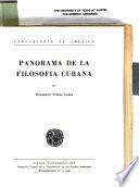 Panorama de la filosofía cubana