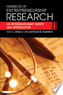 Handbook of Entrepreneurship Research Book