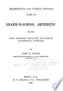 Mathematics for Common Schools    Grammar school arithmetic