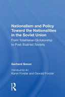 Pdf Nationalism And Policy Toward The Nationalities In The Soviet Union Telecharger