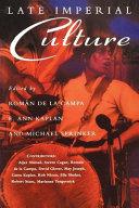 Late Imperial Culture
